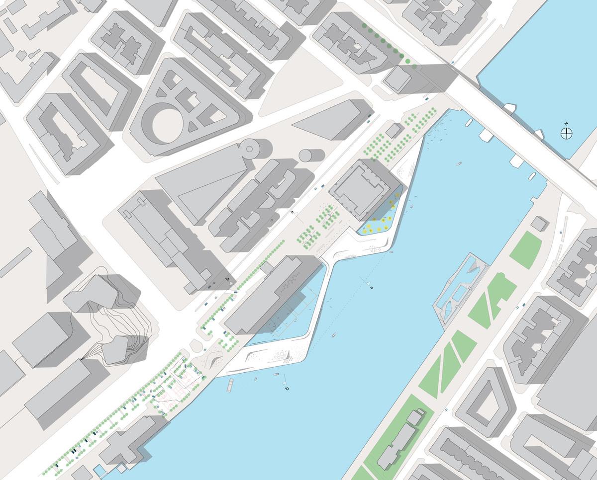 Site plan. Image courtesy of KLAR & JDS/Julien de Smedt Architects
