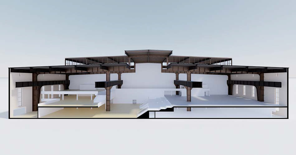 Concept model of the RS+Yellow Furniture Outlet. © BOLLES+WILSON