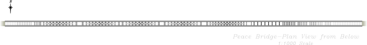 Peace Bridge Plan View (from Below) (CAD)