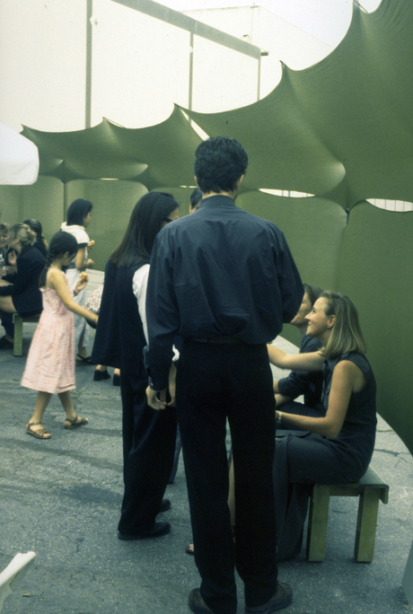 the SCI-Arc Graduation pavilion 1997 via Tima Bell