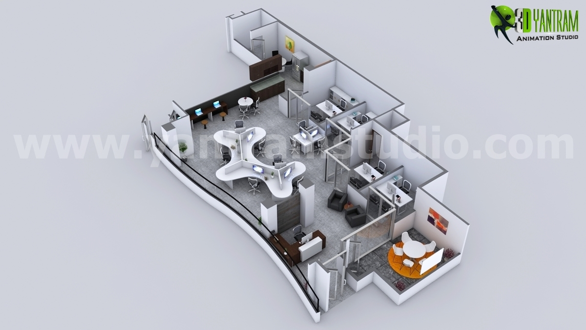 Corporate Office Space Planning With 3d Floor Plan Maker