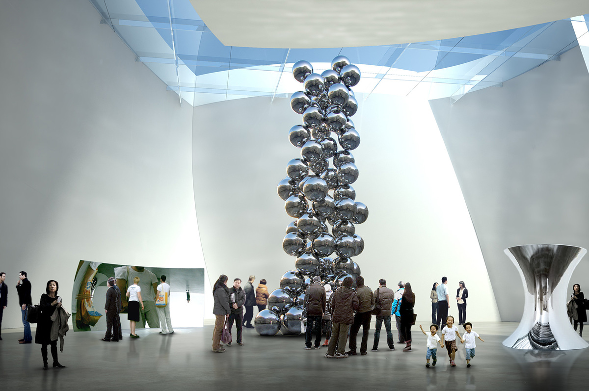Contemporary art gallery (Image courtesy of Gehry Partners)