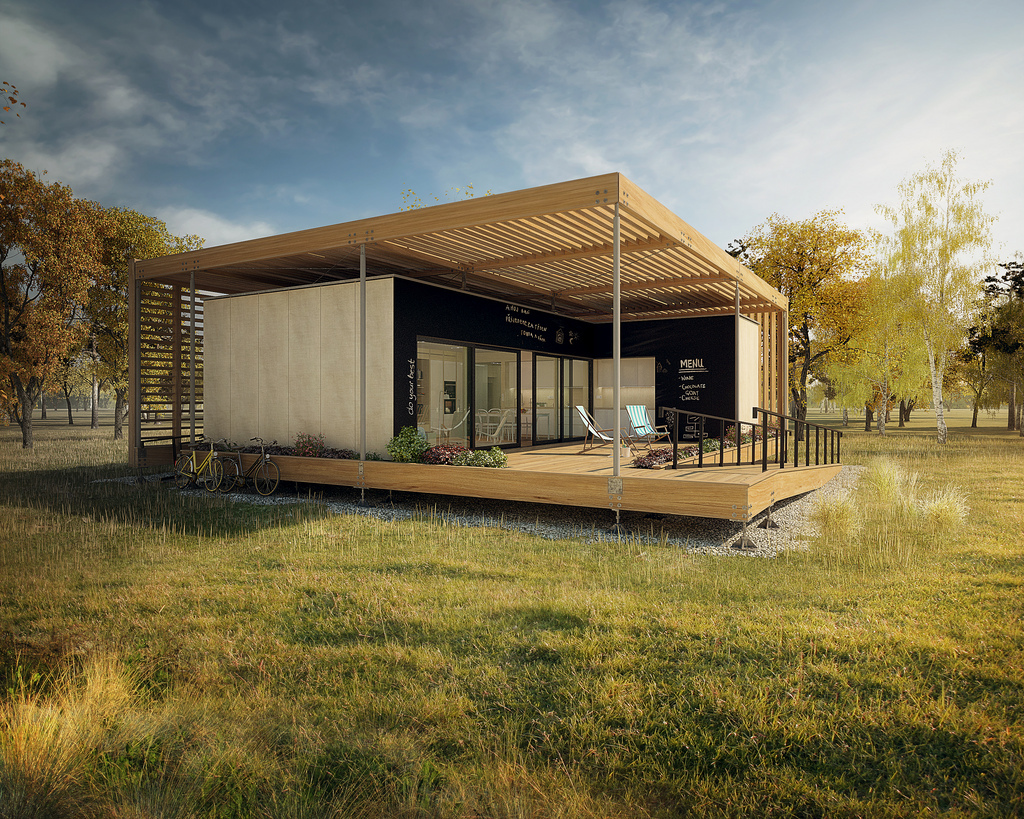 Czech Republic entry for Solar Decathlon 2013. Courtesy of U.S. Department of Energy.