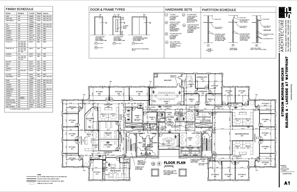 Construction document examples jill sornson kurtz for Floor plan examples