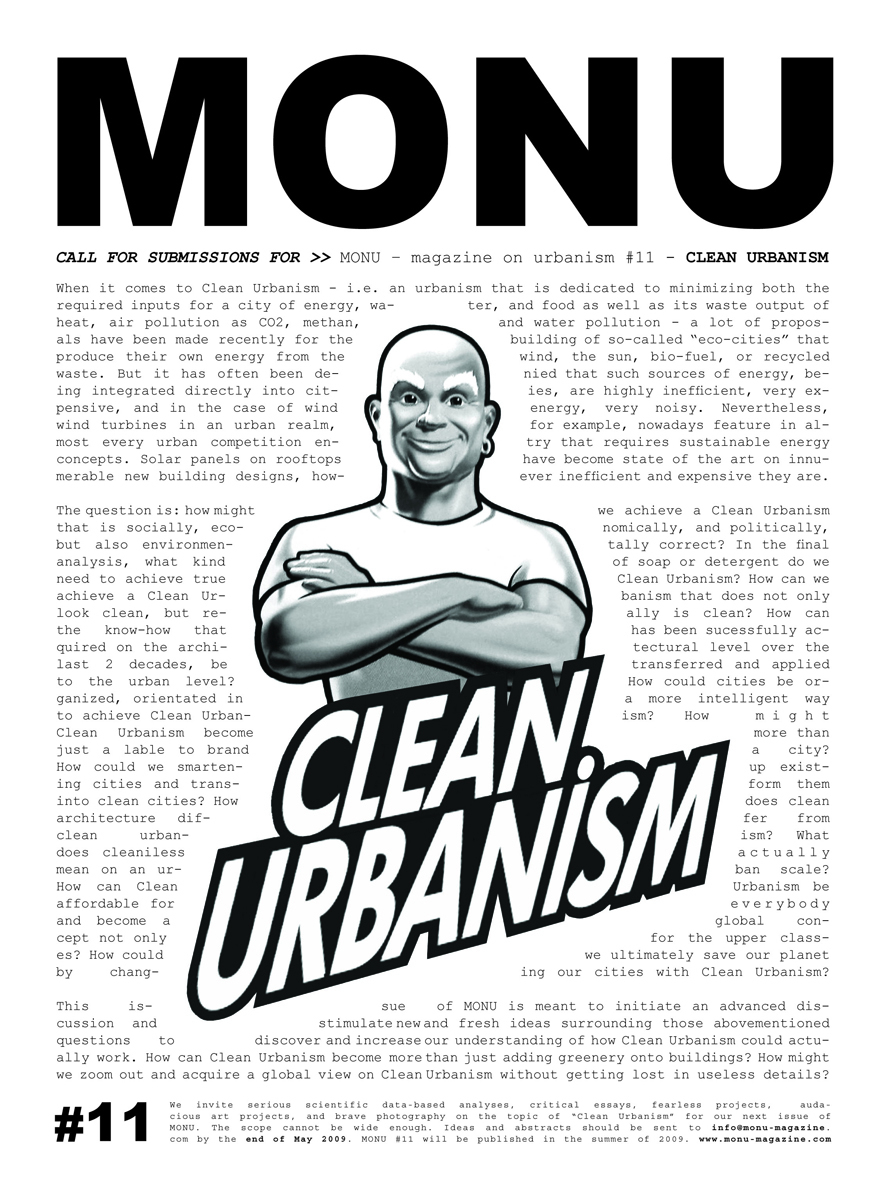 Mr. Clean features in the call for submissions poster for MONU #11, Summer 2009. © MONU