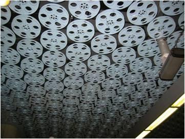 Antique movie reel ceilings