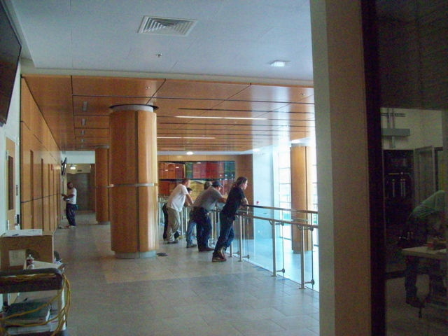 view inside lobby at the end of construction