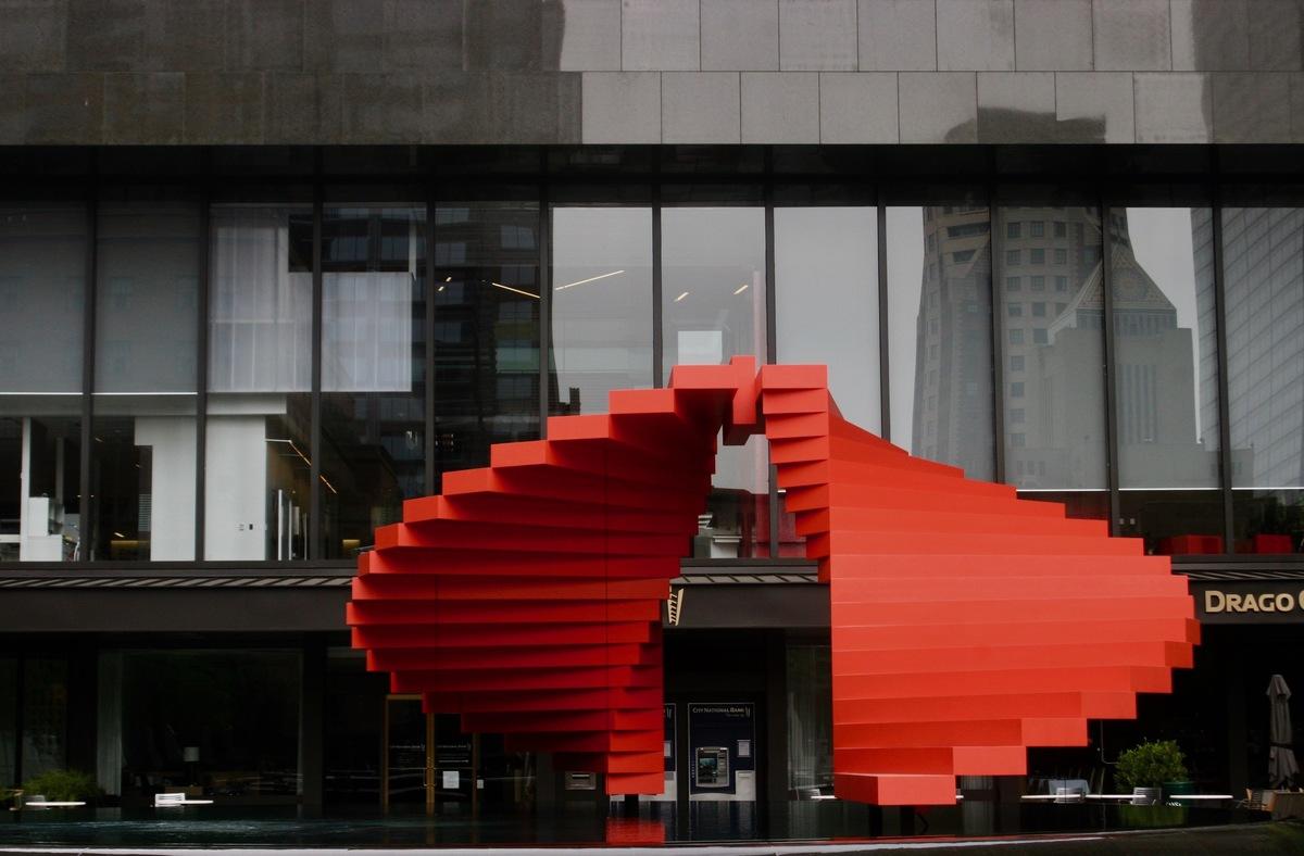 Sculpture by Herbert Bayer, titled