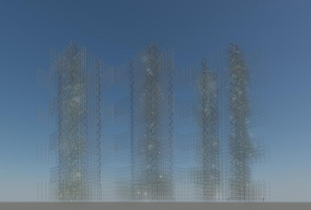 Empty Utopian Architecture in the desert - artbybautista