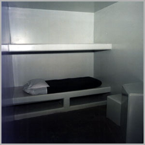 A cell in the Security Housing Unit (SHU) at California's Pelican Bay Supermax Prison - courtesy California Department of Corrections