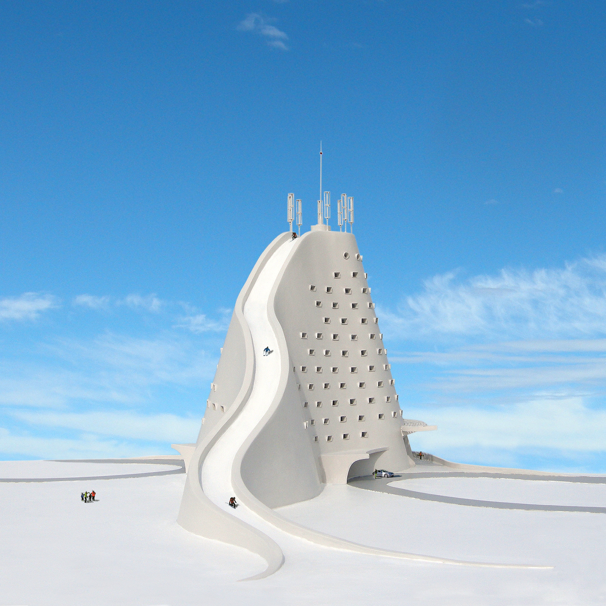 The north slope ski hotel michael jantzen archinect for Ski design hotel