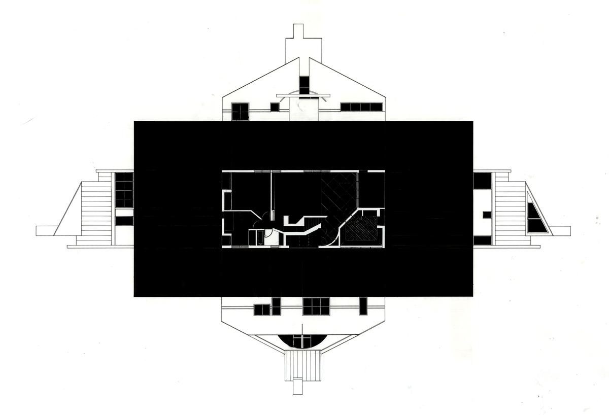Ink on Mylar - Vanna Venturi House