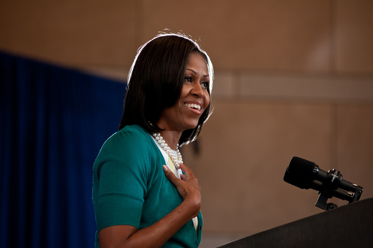 Michelle Obama. Image: Chirstopher Dilts for Obama for America via Flickr
