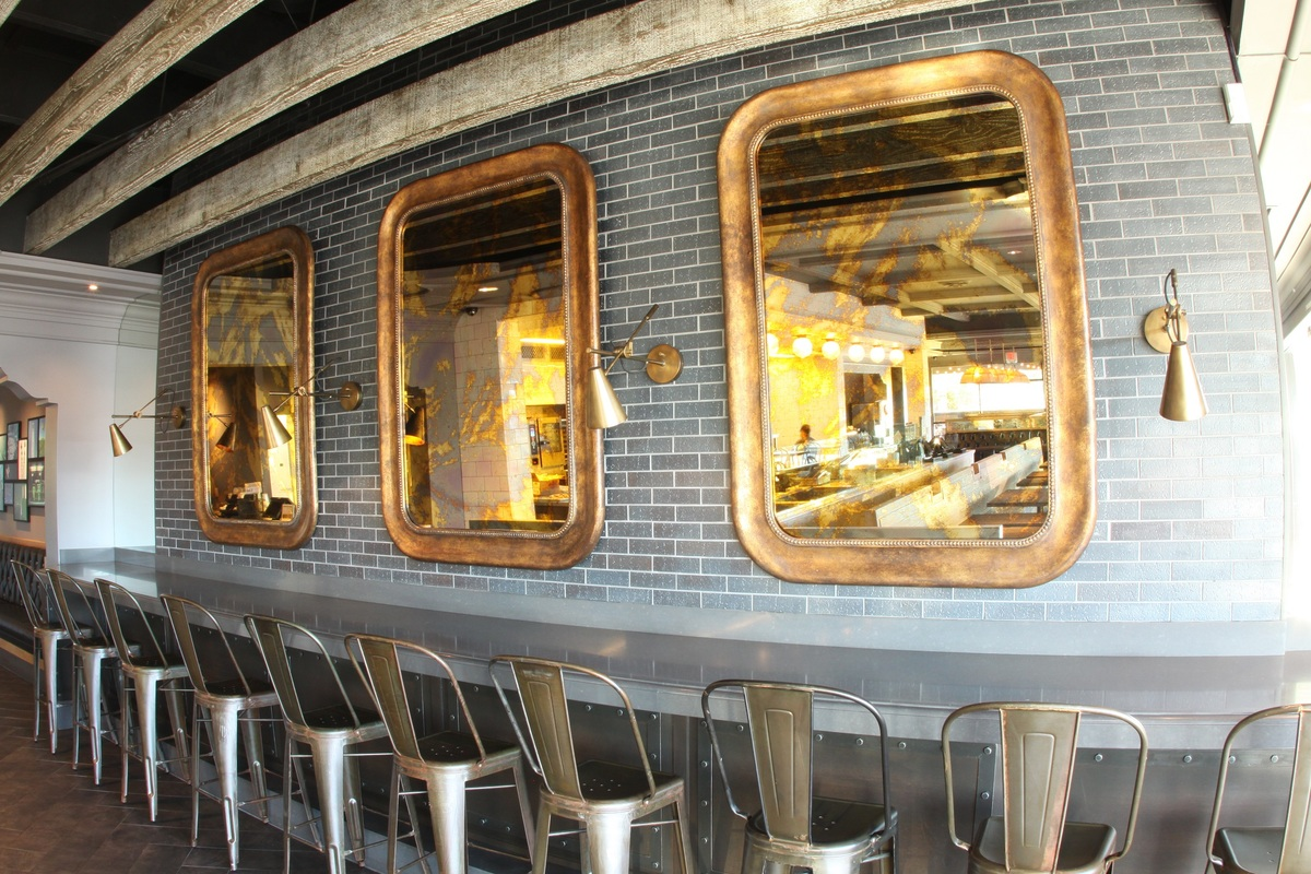 Italian glass mirrors