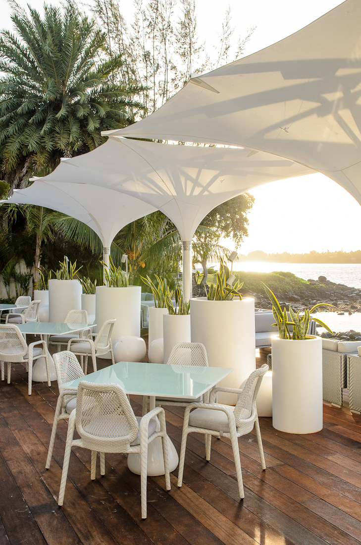 Beach deck restaurant