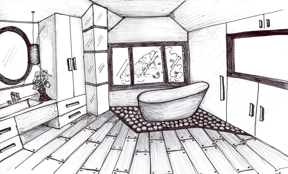 Easy interior design sketches interior design Room sketches interior design