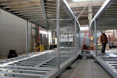 Steel Frame in Factory