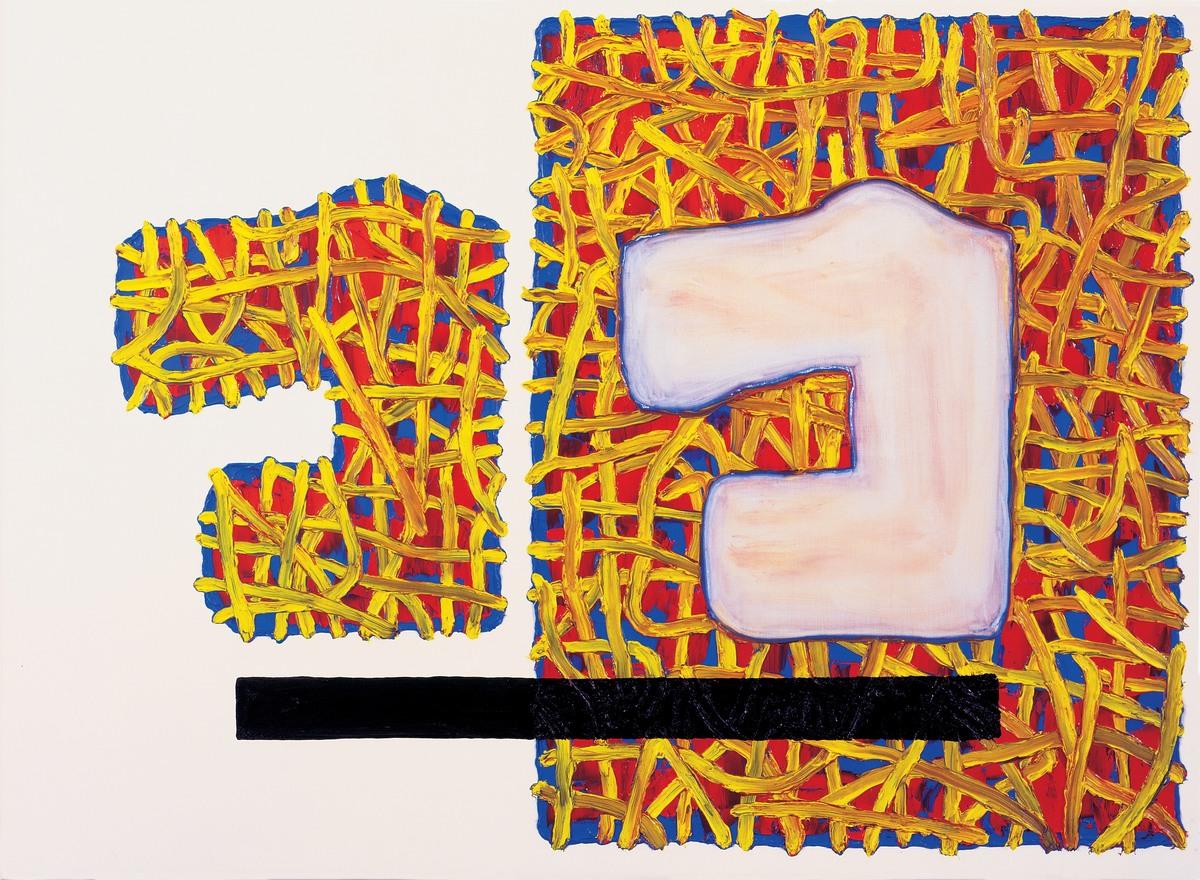 Figure 3. Assertive Absence by Jonathan Lasker © Johnathan Lasker. Image via Fresh Meat.