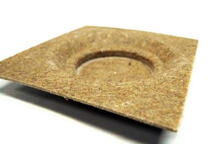 Post forming bast fiber part.