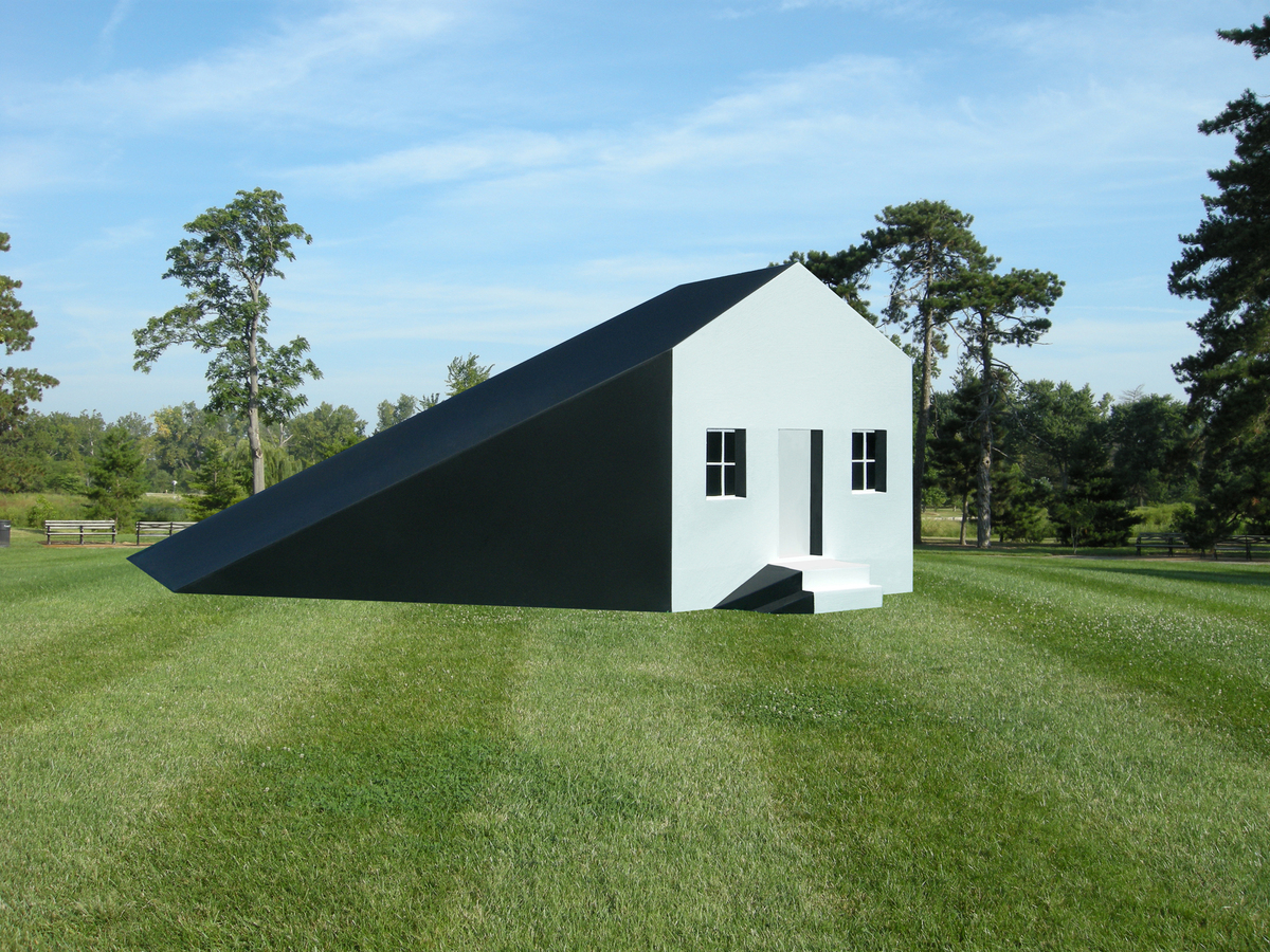 The Shadow House, a public conceptual art installation.