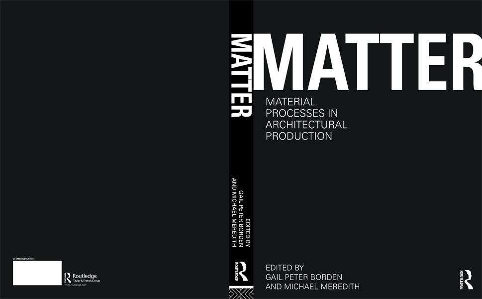 Book Cover Design Architecture : Matter material processes in architectural production