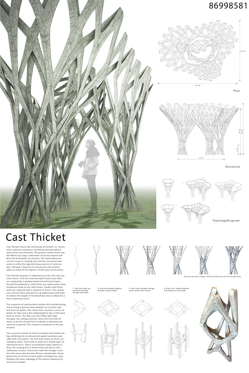 First Round Finalist - Speculative Proposal: CAST THICKET by Christine Yogiaman and Ken Tracy