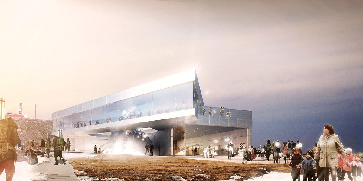 Rendering, Arctic Hub, summer (Image: David Garcia Studio and Henning Larsen Architects)