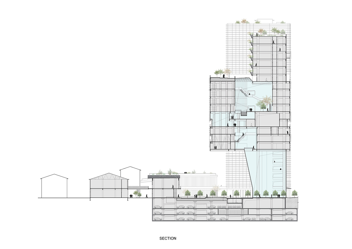 The corner of hangzhou by lycs architecture lycs Building plan printing