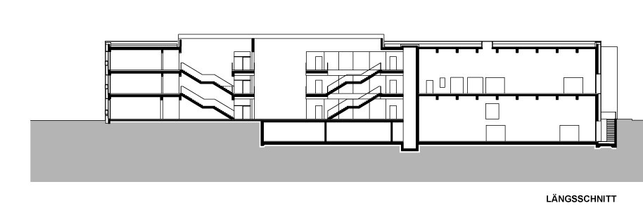 Longitudinal section (Image: KIRSCH Architecture)