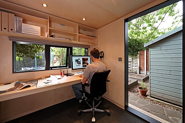 Contemporary garden office archinect for Garden house office
