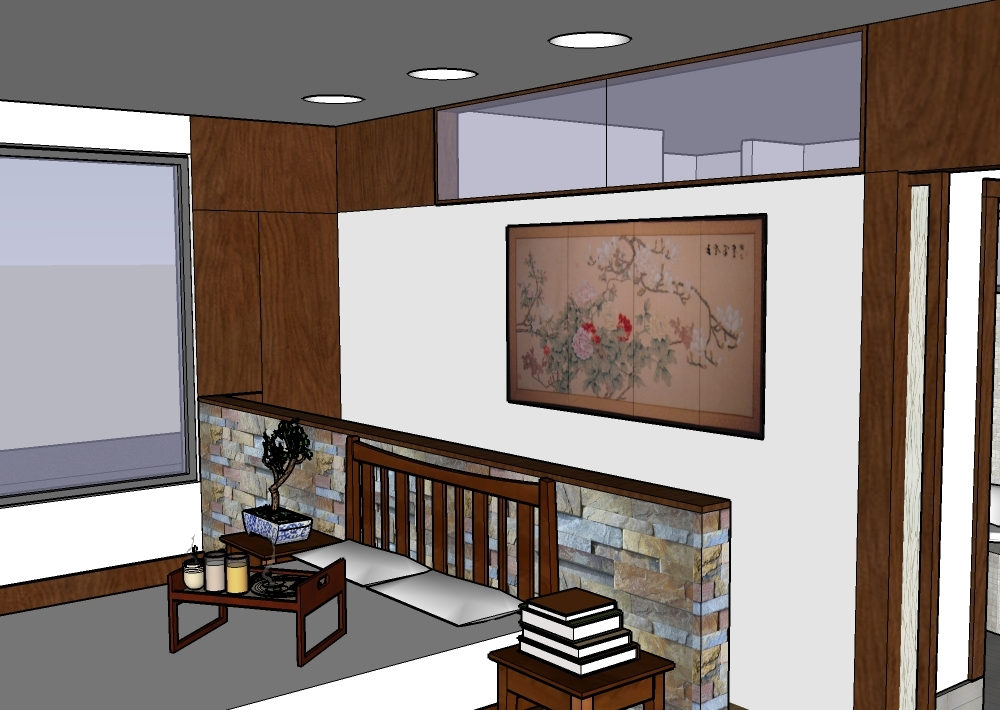 SD rendering of master bedroom