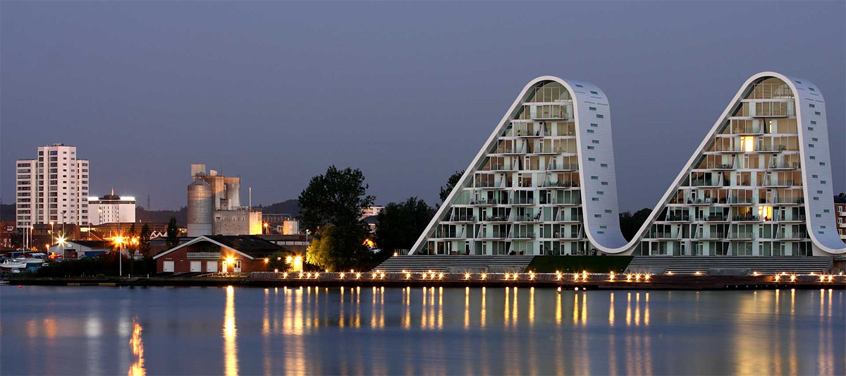The Wave in Vejle, 2009 (Image: Henning Larsen Architects)
