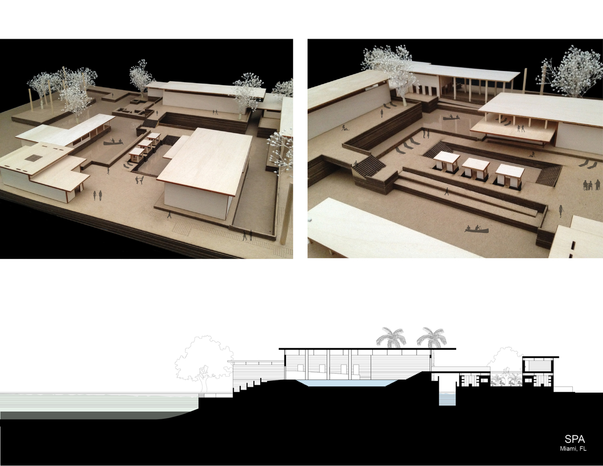 Spa Model and Section