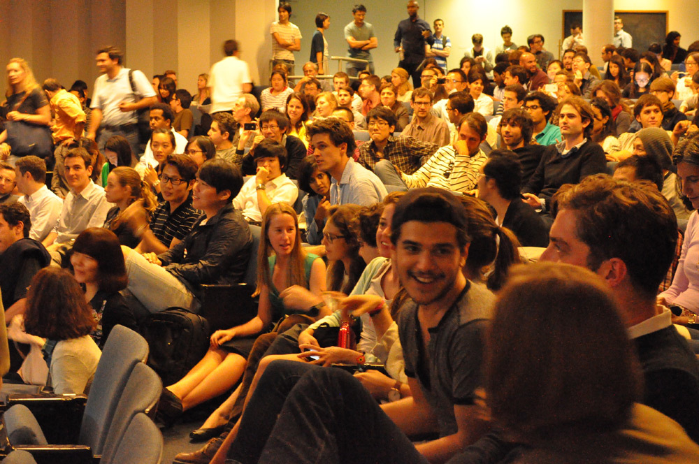 Student audience at a Peter Eisenman lecture. Image courtesy of GSAPP.