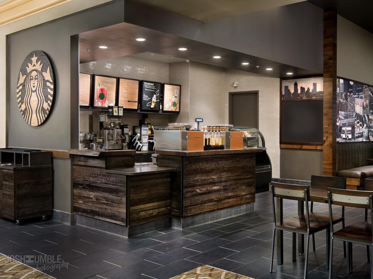 Westin Indianapolis Starbucks Interior Photography Josh Humble Archinect