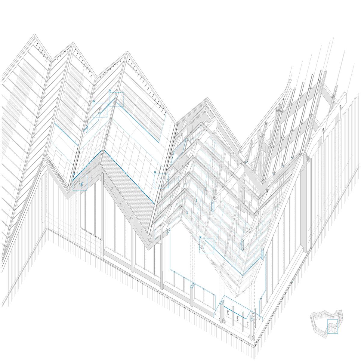construction axonometric view