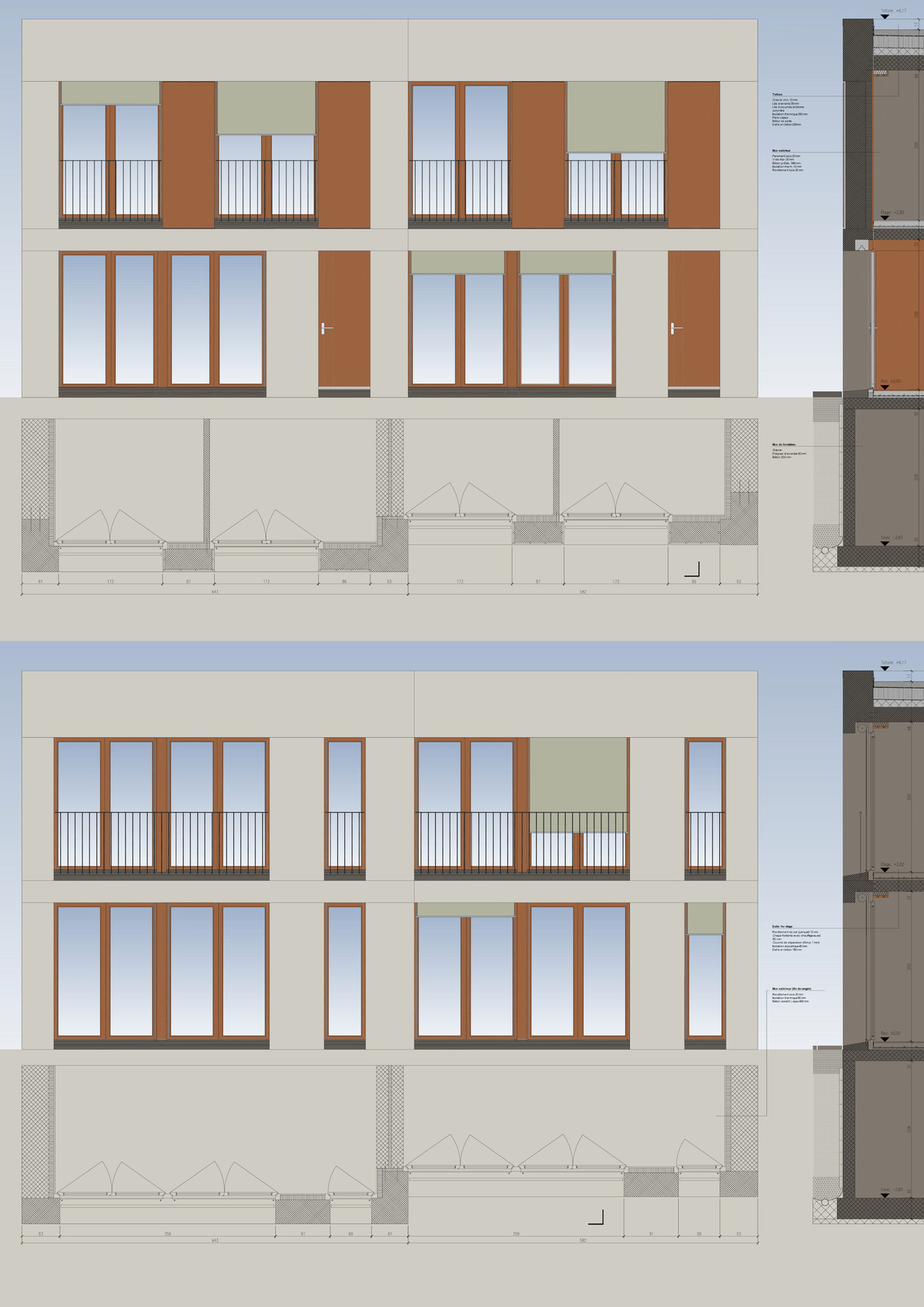 Detailed elevations