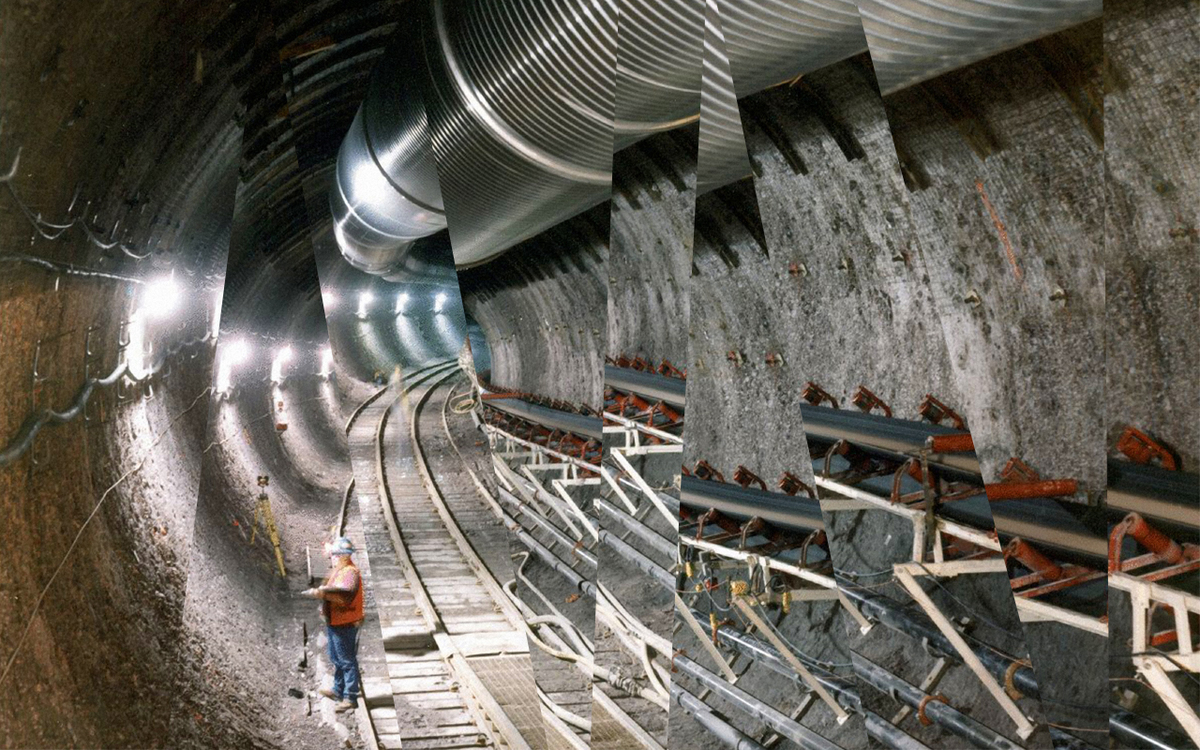 Inside the Yucca Mountain nuclear waste repository.