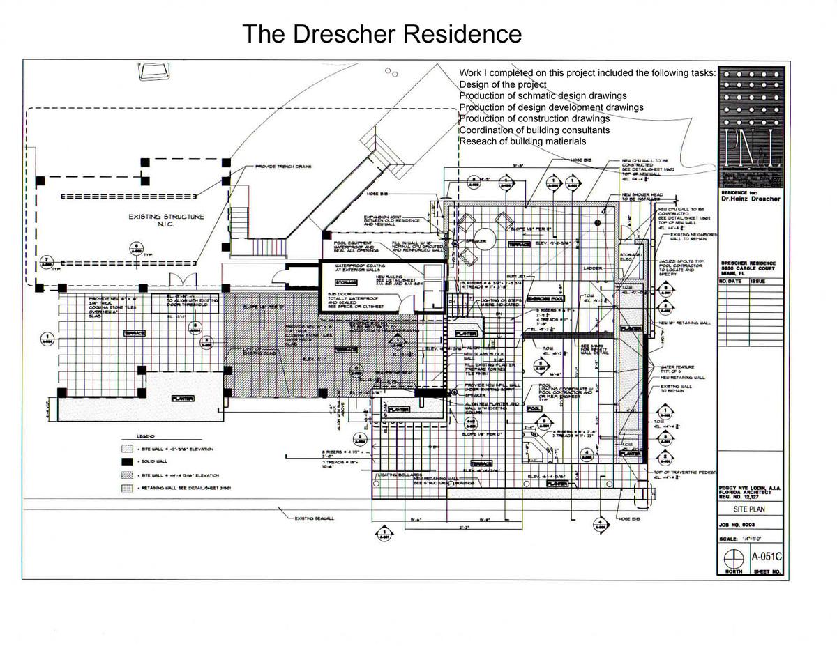 The Drescher Residence-plan