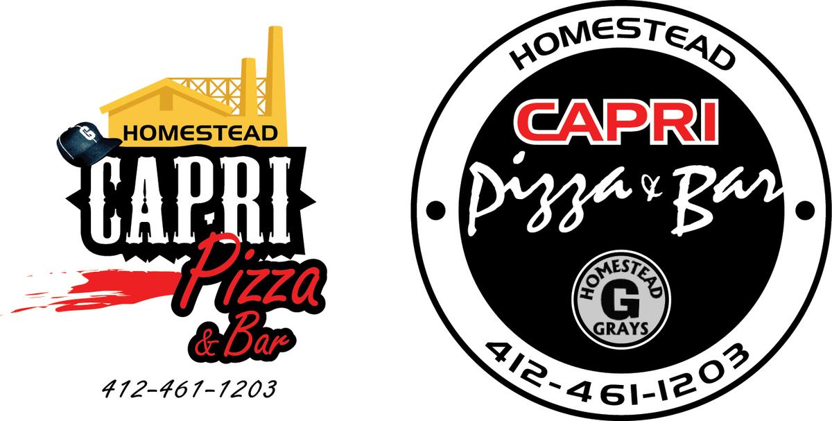 2 logo designs for Capri Pizza, located in Pittsburgh, PA.