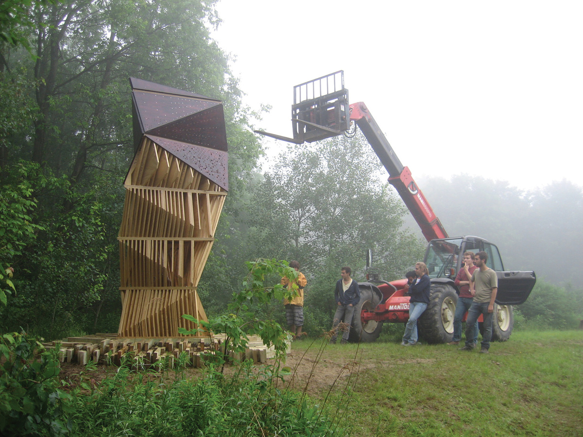 Ants of the Prairie: Bat Tower, Griffis Sculpture Park, East Otto, NY | photo: Joyce Hwang
