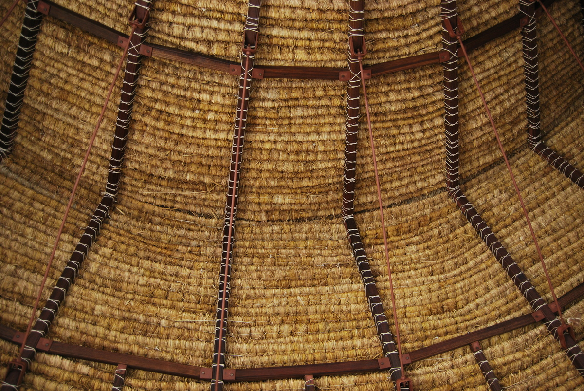 Thatch roof for class room