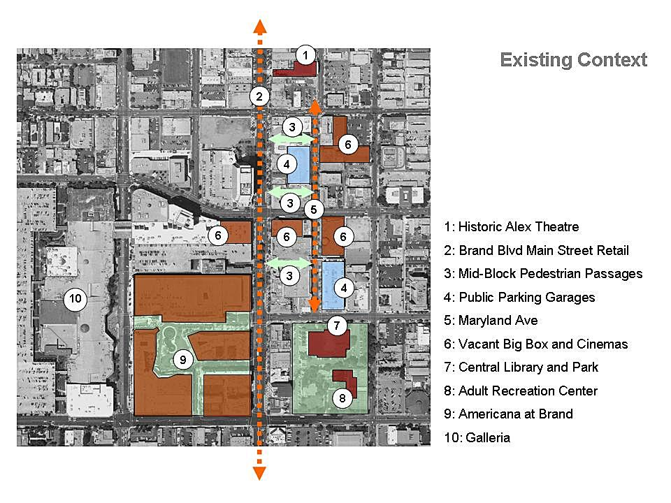 drawing by Alan Loomis / Glendale Urban Design Studio