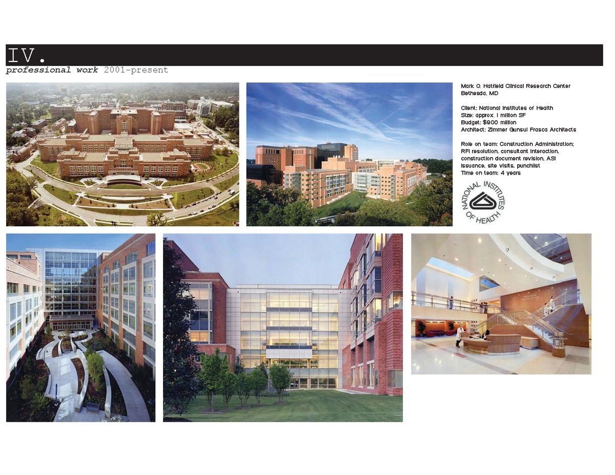 Nih mark o hatfield clinical research center dustin for Asi construction documents