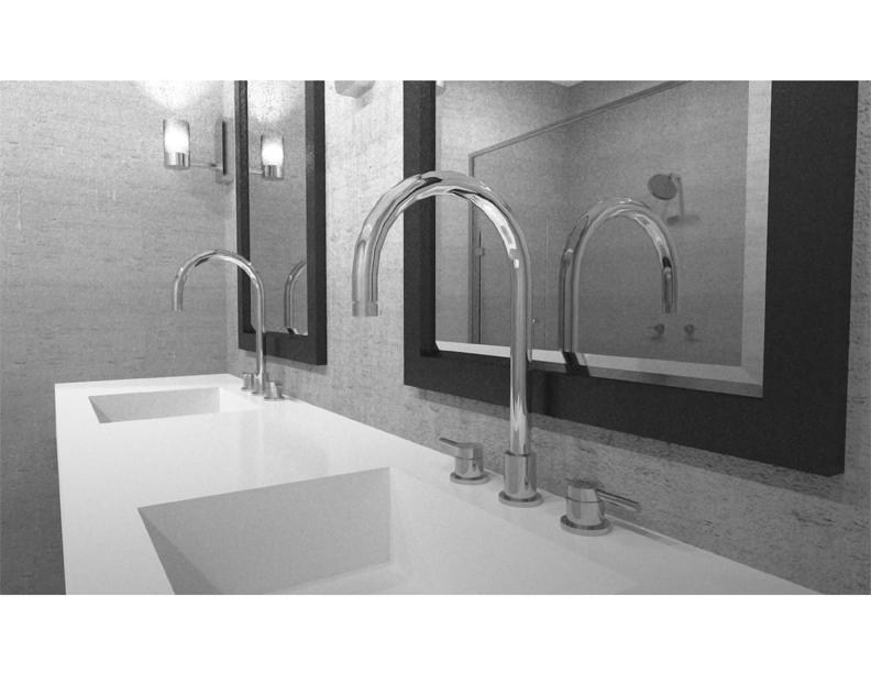 Residential Kids Bathroom Design NYC Rendering