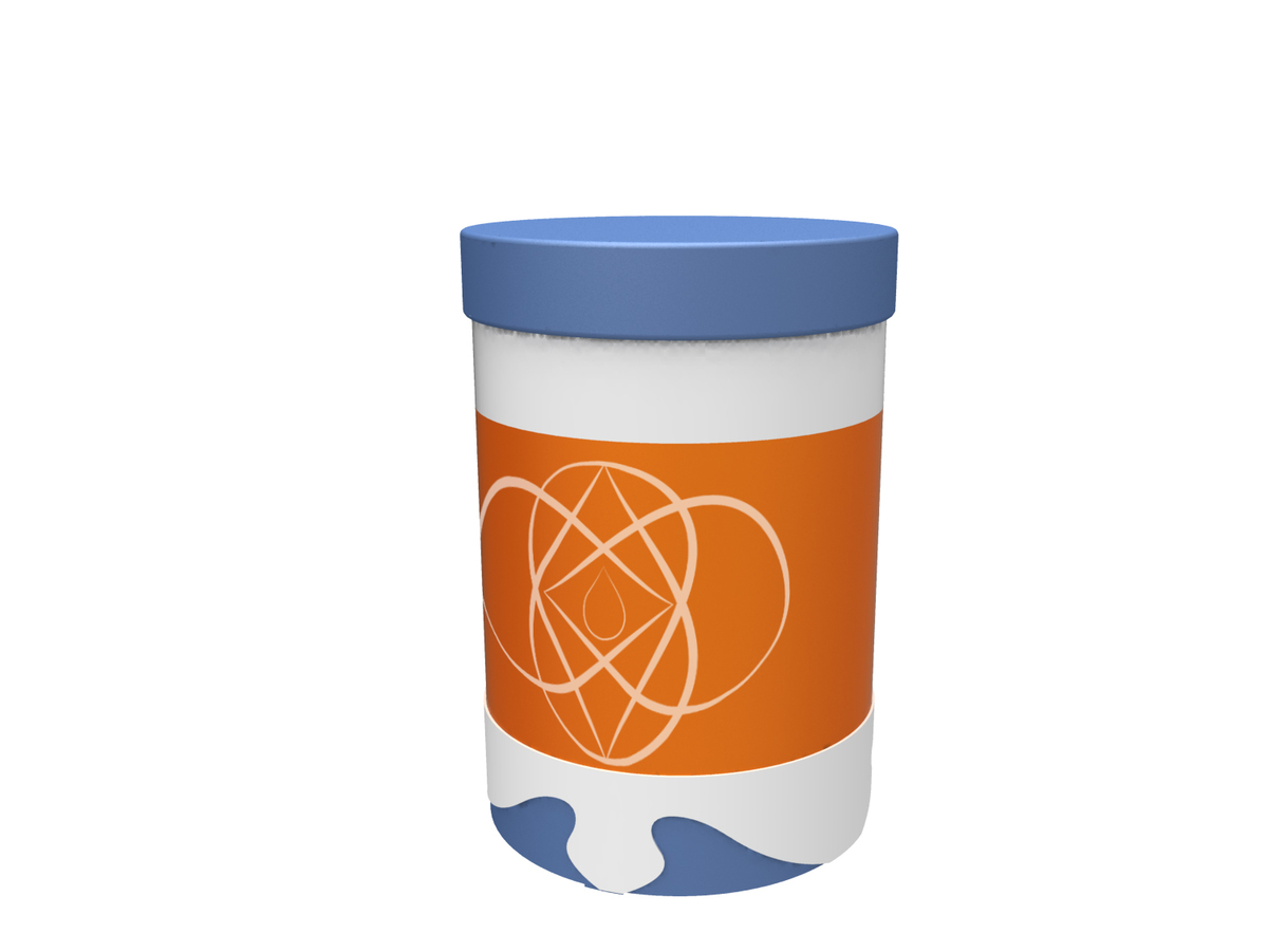 Rada comes self-contained in a small bioplatic cup.