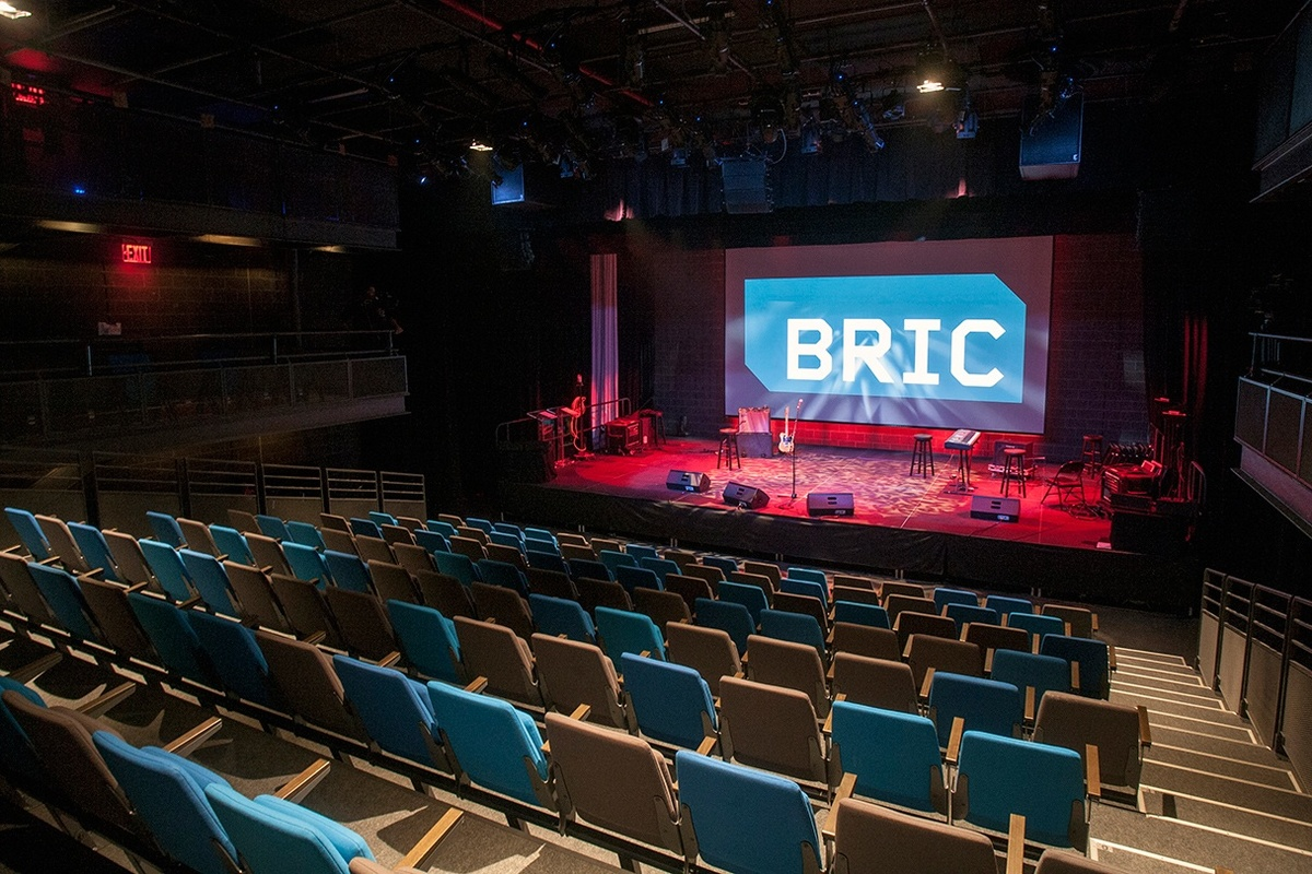 BRIC House Ballroom: the BRIC Houses flexible performance space. Photo by Jenna Salvagin, courtesy of LEESER.