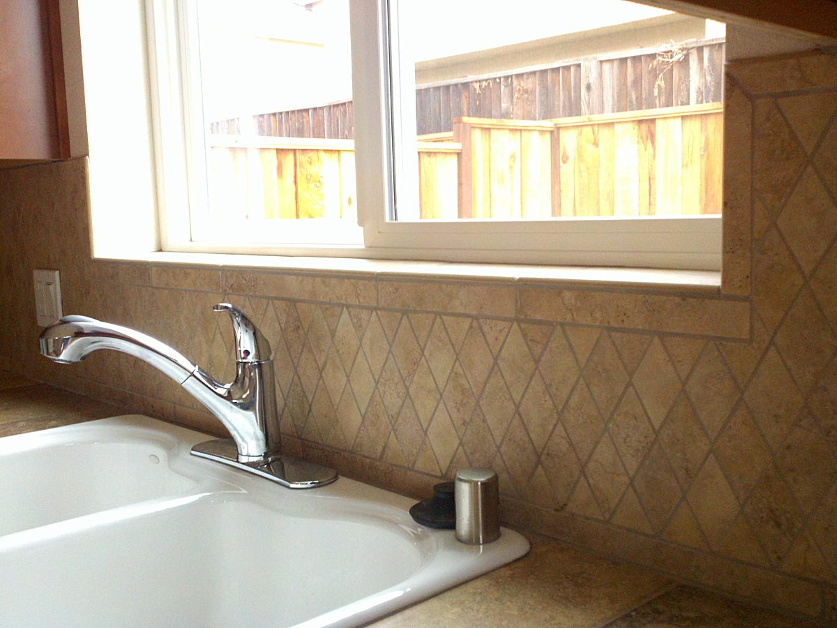 Tiling, Sink Installation