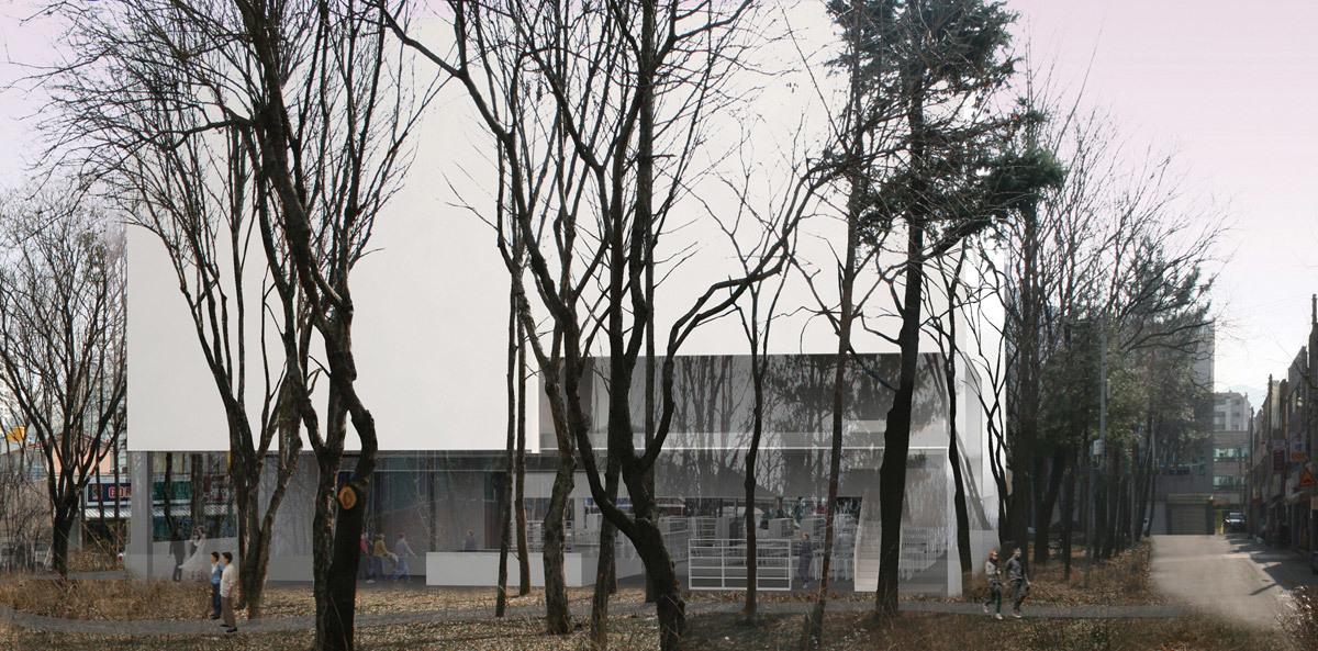first place in Korean Daegu Gosan Public Library competition design by team Gorka Blas