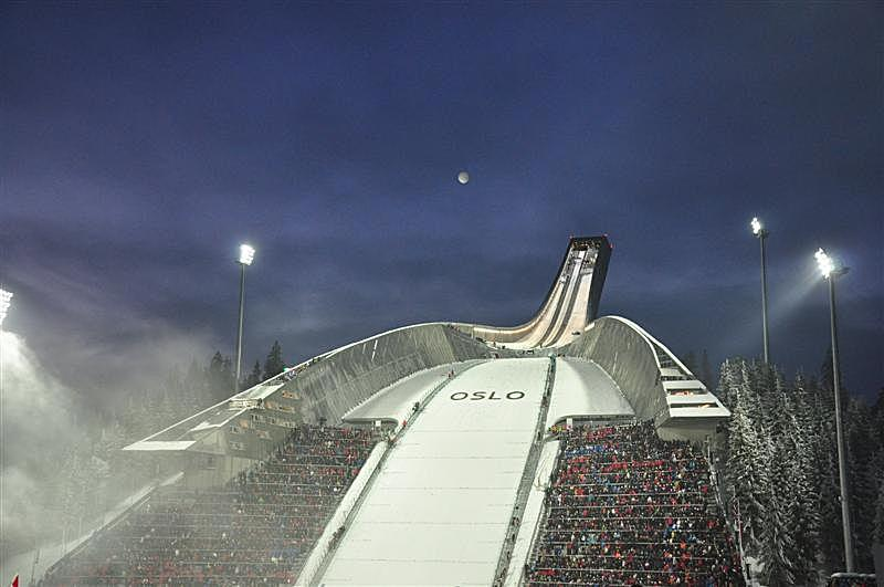 Ski jumping event night